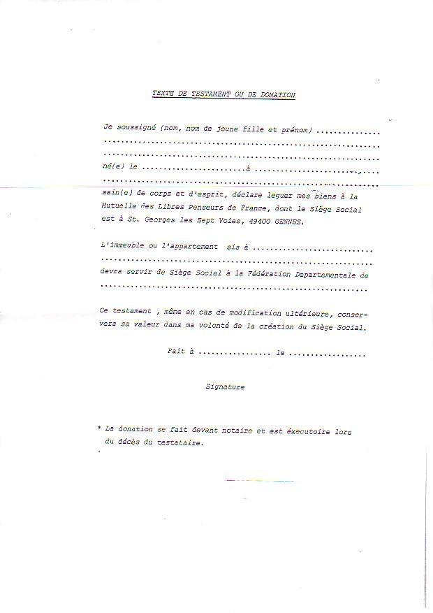 Modele Testament A La Main Document Online